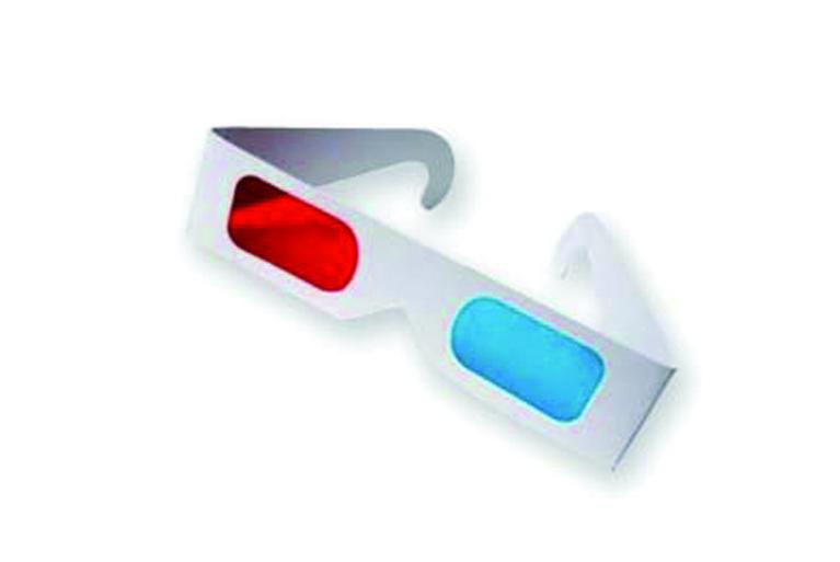 Gafas 3D para visualizar el mensaje