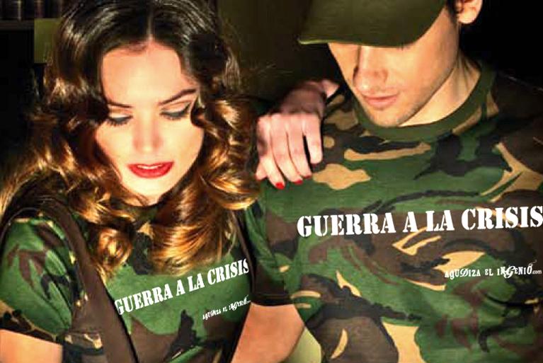 Guerra a la crisis. Colección de moda camuflaje.