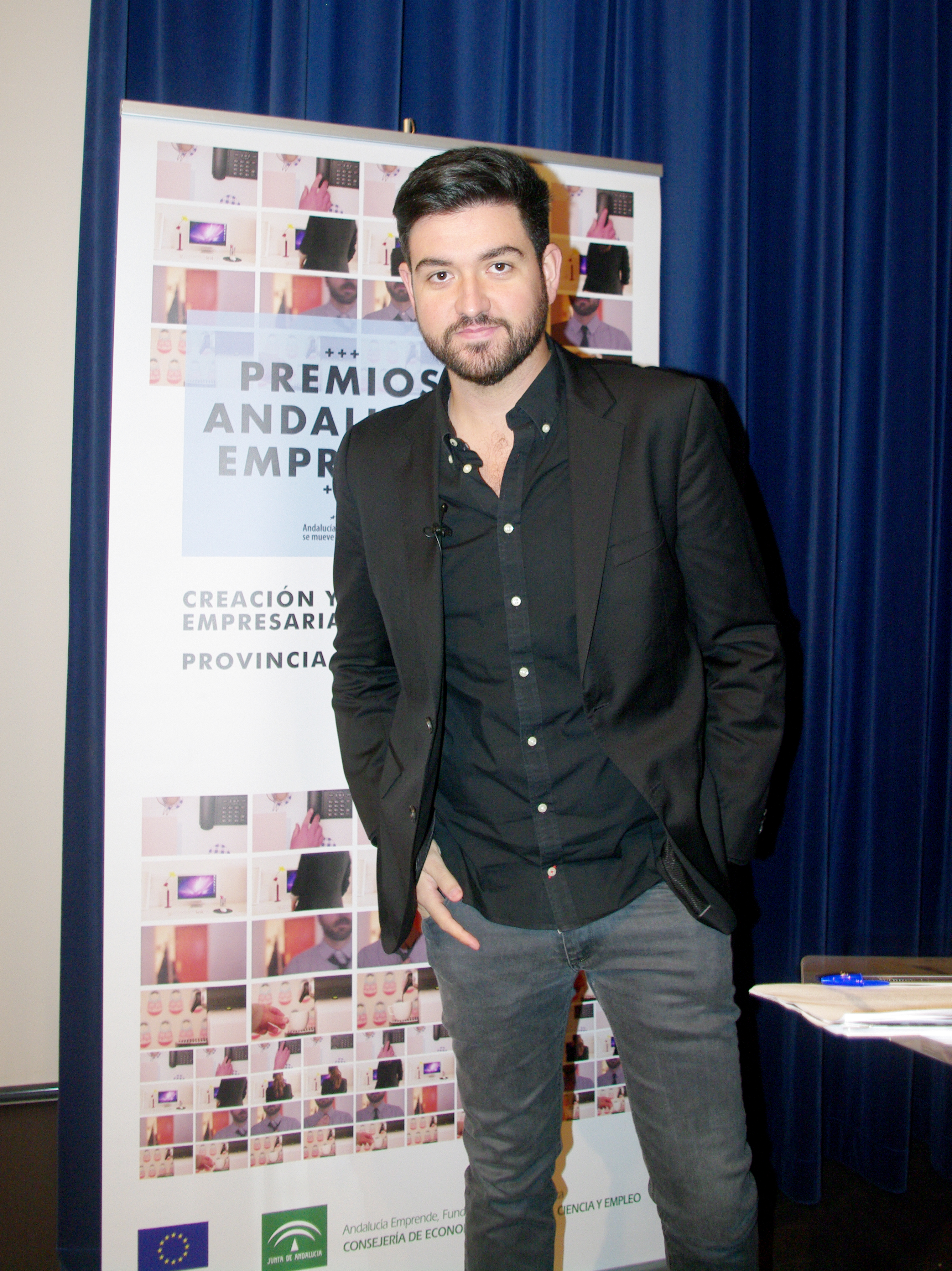 Manu Sánchez en el evento organziado por Agudiza el Ingenio para Andalucía Emprende