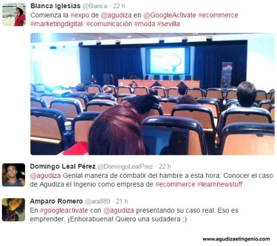 Tweets alumnos Google Actívate