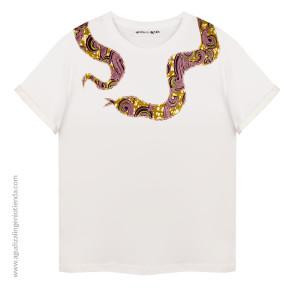 "Camiseta ""Afrochic"" serpiente"