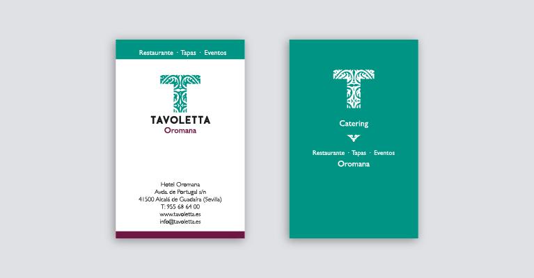 Tarjetas de visita Tavoletta
