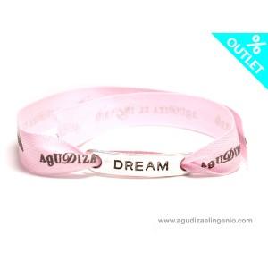 """Pulsera lazo rosa """"Dream"""""""