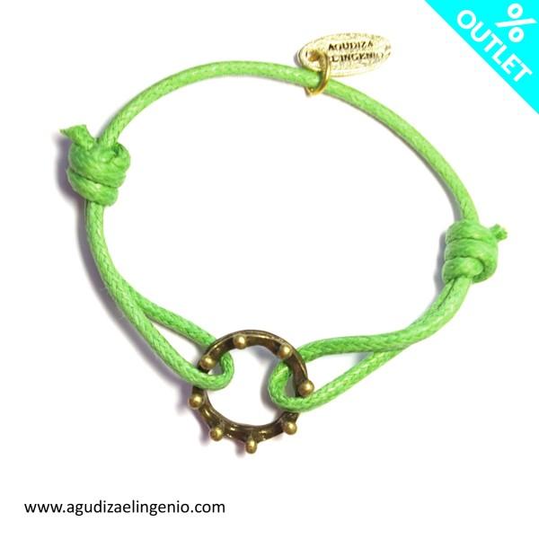 Pulsera corona cordón verde