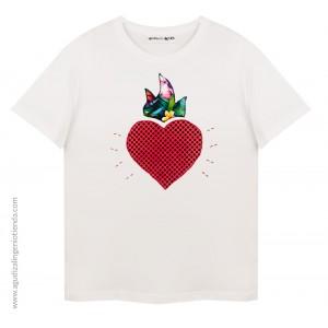 """Camiseta """"Sé original"""" corazón mediana"""