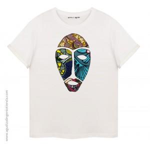 "Camiseta ""Afrochic"" máscara africana mediana"