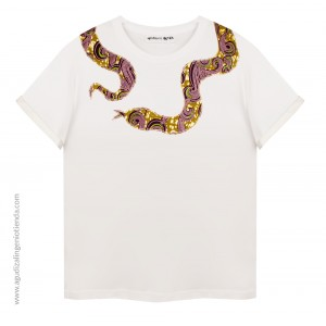 "Camiseta ""Afrochic"" serpiente mediana"