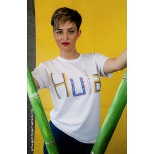 """Camiseta """"Aloha"""" hula mediana"""