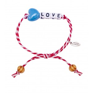 "Pulsera ""Little Words"" LOVE corazón azul"