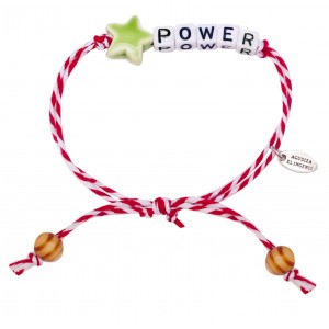 "Pulsera ""Little Words"" POWER estrella verde"