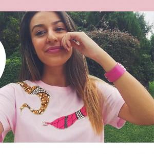 "Camiseta ""Afrochic"" serpiente rosa talla M"