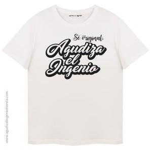 "Camiseta ""Sé original"" print Agudiza el Ingenio mediana (copy)"