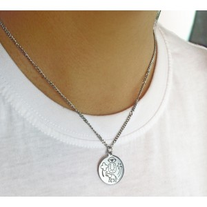 """Collar """"Amuleto tú"""" suerte acero"""