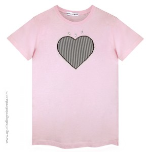 "Camiseta ""Love"" corazón rayas talla M"