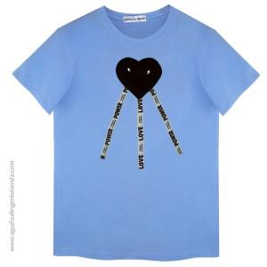 "Camiseta ""Lovel"" corazón ojos talla M"
