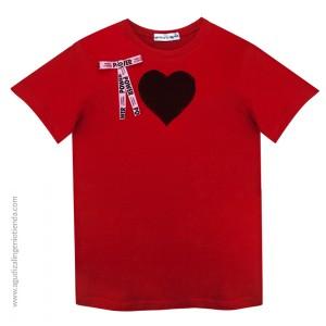 "Camiseta ""Love"" corazón rejilla talla M"
