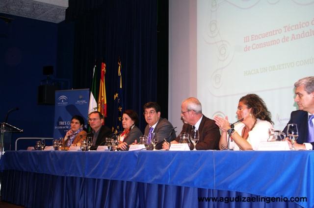 Mesa inaugural del III Encuentro Técnico de Juntas Arbitrales de Consumo de Andalucía