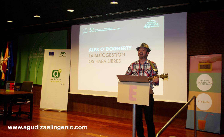 Alex O'dogherty durante los II Premios Andalucía Emprende
